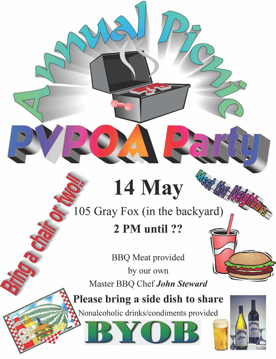 PVPOA Picnic Spring  2016